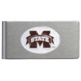 Mississippi St. Bulldogs Brushed Metal Money Clip